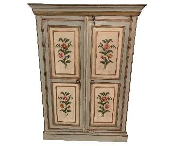 Italian Wardrobe in Painted & Gilded Wood