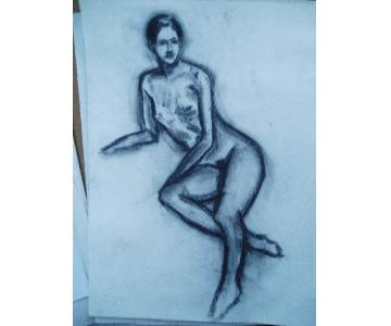 Contemporary Drawing Nude Female Figure