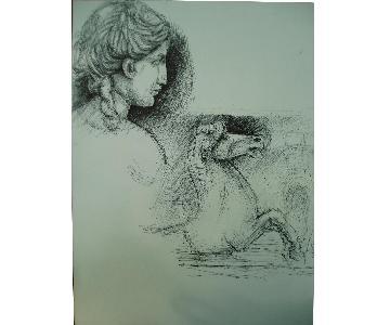 Italian Drawing by Pen