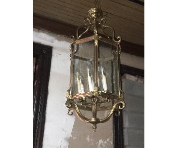 Hexagonal Brass Ceiling Lights/Lanterns