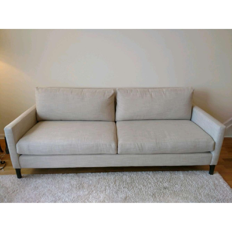 Bassett Custom Serafina Sofa in Oatmeal Color-0