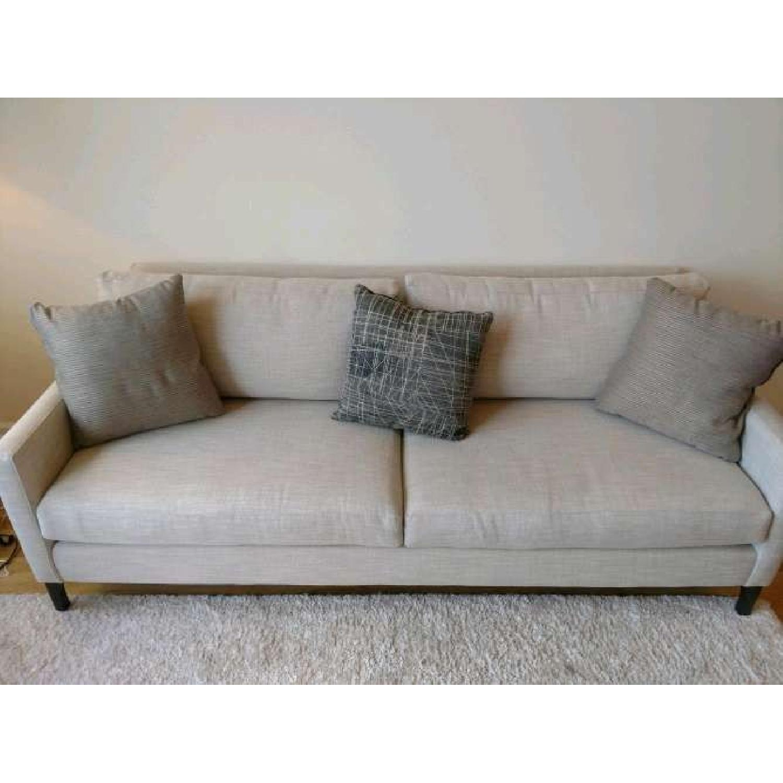 Bassett Custom Serafina Sofa in Oatmeal Color-1