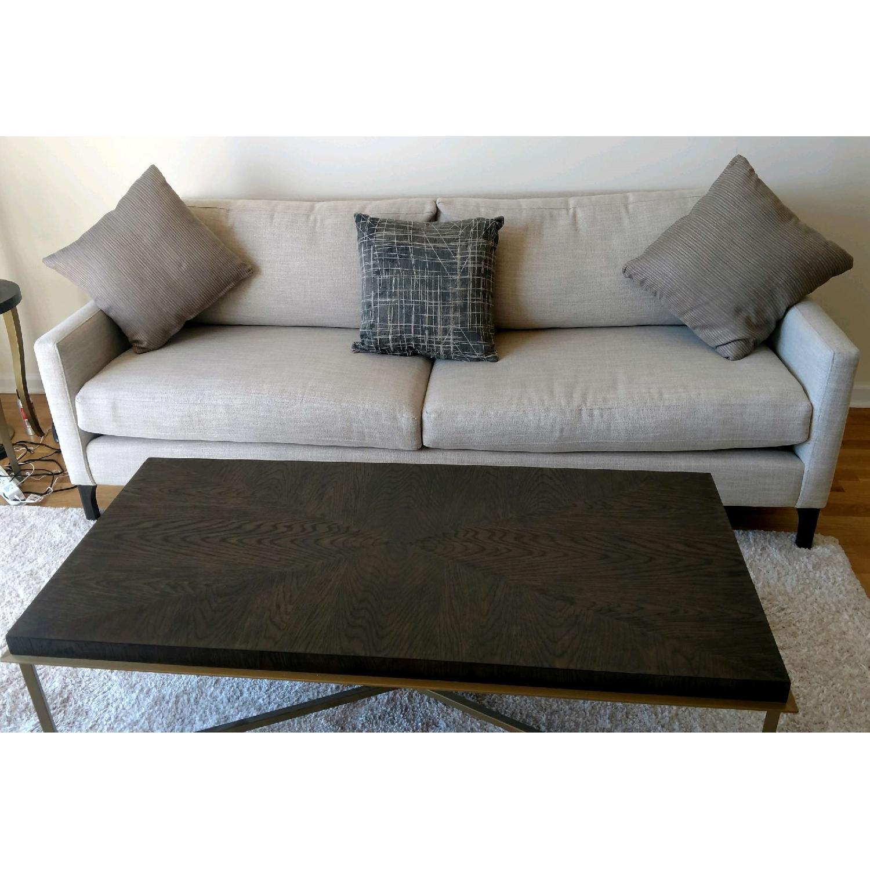 Bassett Custom Serafina Sofa in Oatmeal Color-2