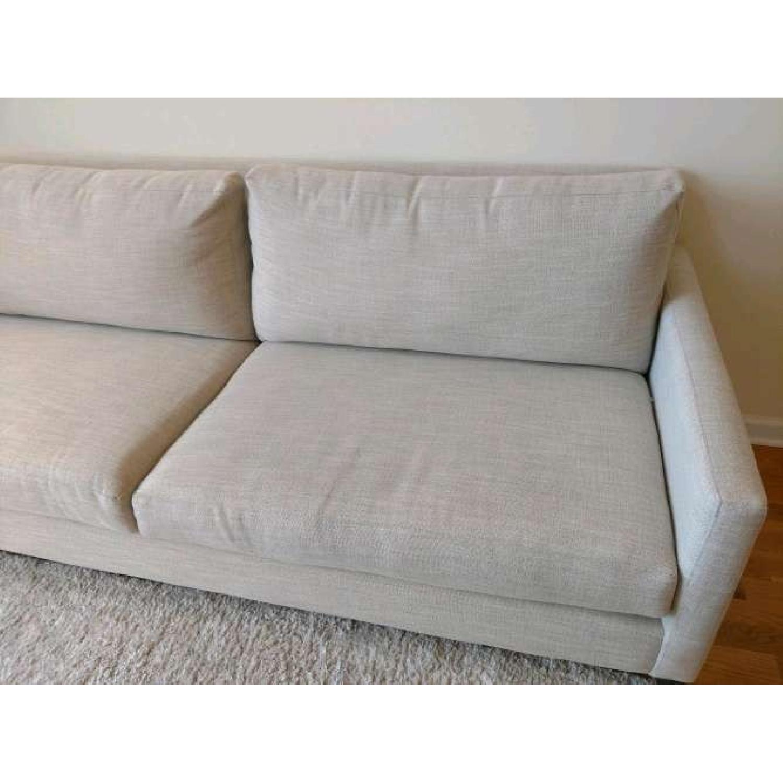 Bassett Custom Serafina Sofa in Oatmeal Color-3