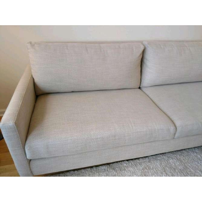 Bassett Custom Serafina Sofa in Oatmeal Color-4