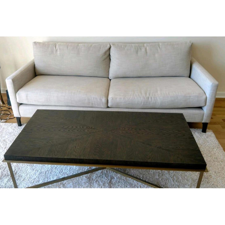 Bassett Custom Serafina Sofa in Oatmeal Color-5