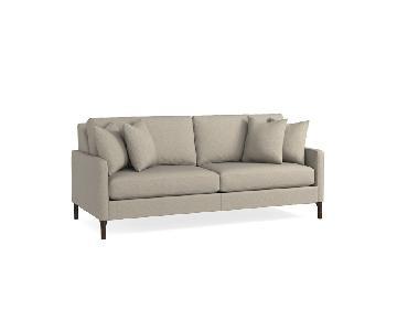 Bassett Custom Serafina Sofa in Oatmeal Color