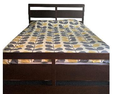 Dark Wood Queen Bed Frame