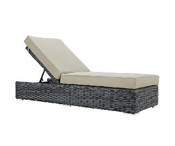 Manhattan Home Design Outdoor Chaise Lounge Chair