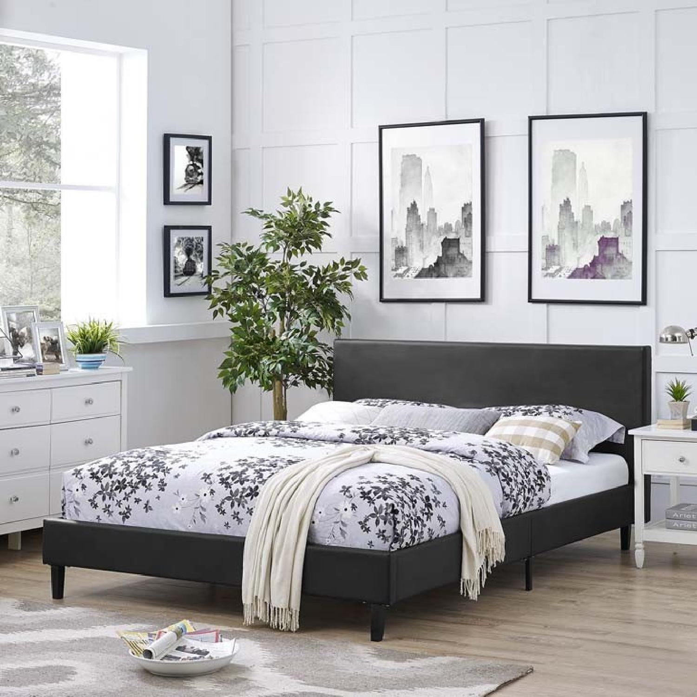 Manhattan Home Design Modern Full Bed in Black - image-3