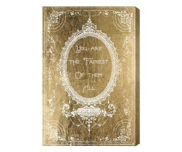 Oliver Gal The Fairest Gold Fashion Art Wrapped Canvas
