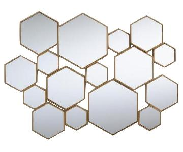 World Market Hexagon Mirror