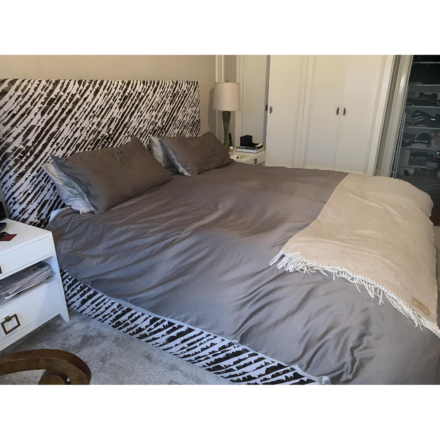 ABC Carpet and Home Donghia Fabric Upholstered Bed-1
