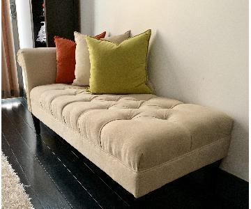 Pottery Barn Tufted Chaise Lounge