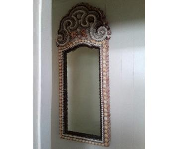 Vintage High Tide Collection Shell Encrusted Mirror