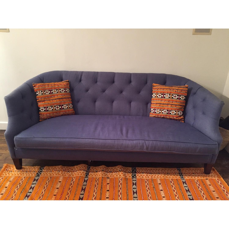 Crate & Barrel Linen Sofa - image-1