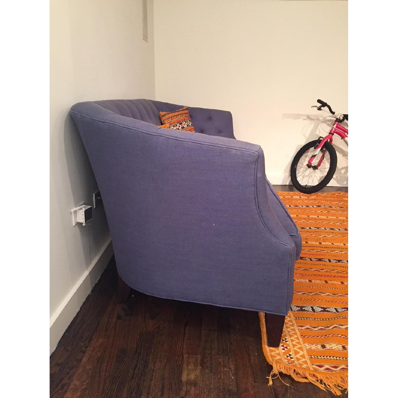 Crate & Barrel Linen Sofa - image-2
