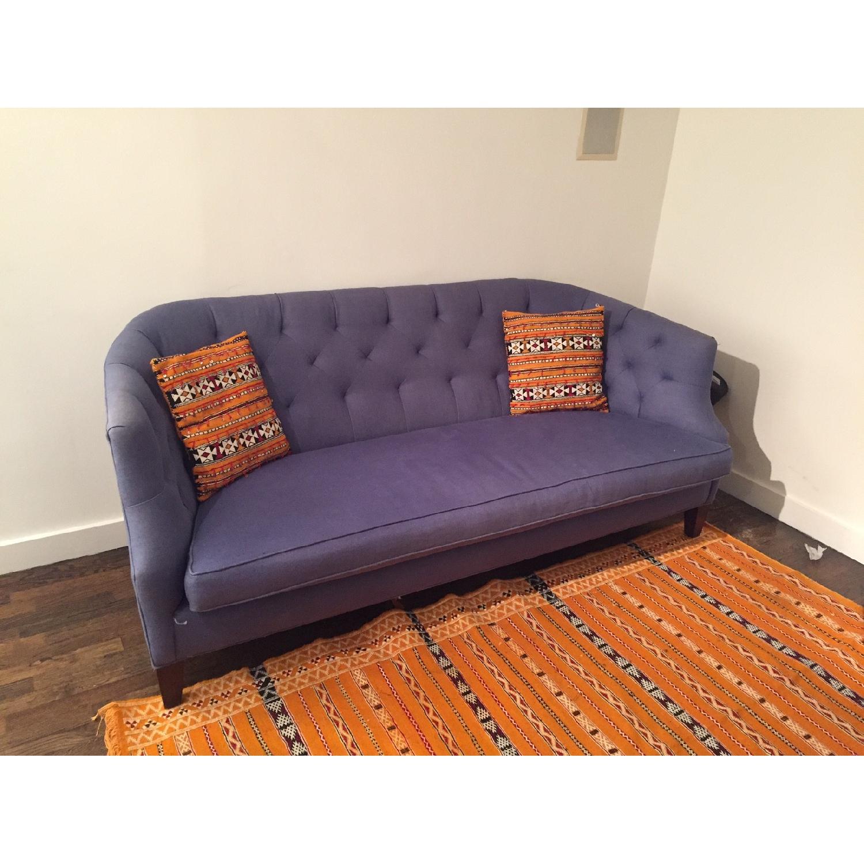 Crate & Barrel Linen Sofa - image-3