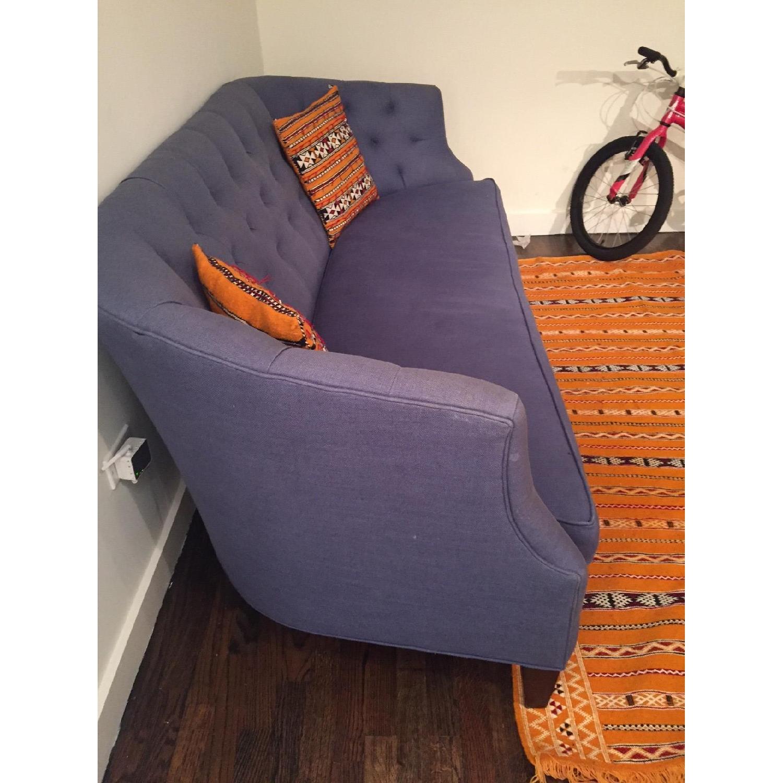 Crate & Barrel Linen Sofa - image-4