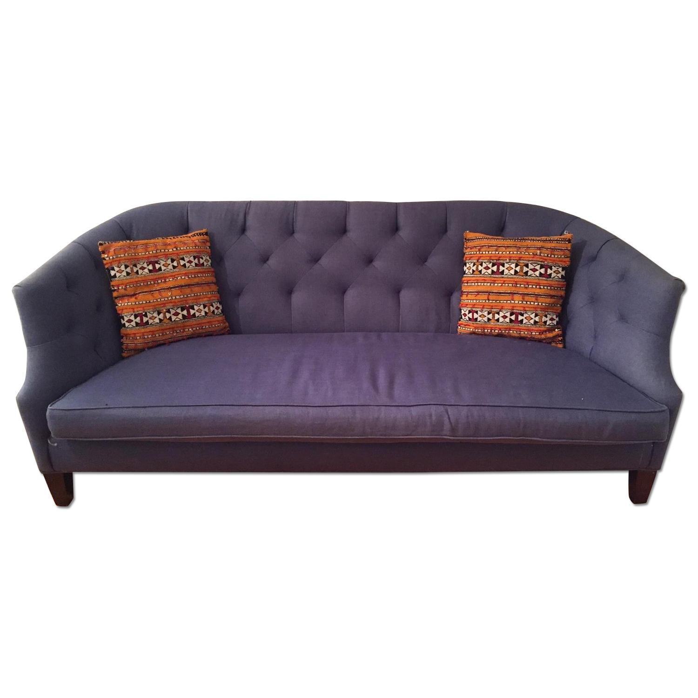 Crate & Barrel Linen Sofa - image-0