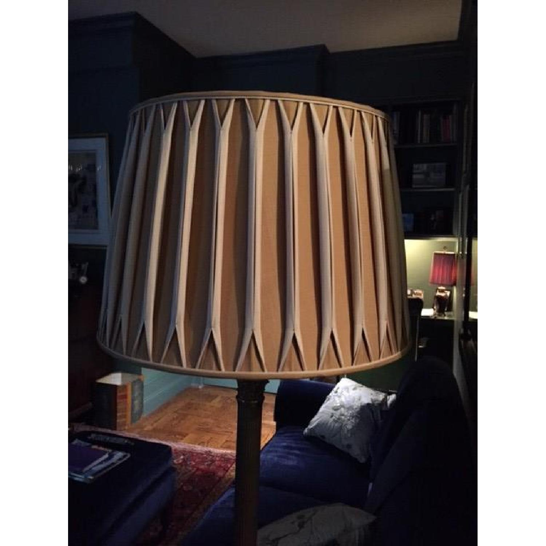 Handmade Silk Lamp Shade w/ Reverse Pleeds - image-2