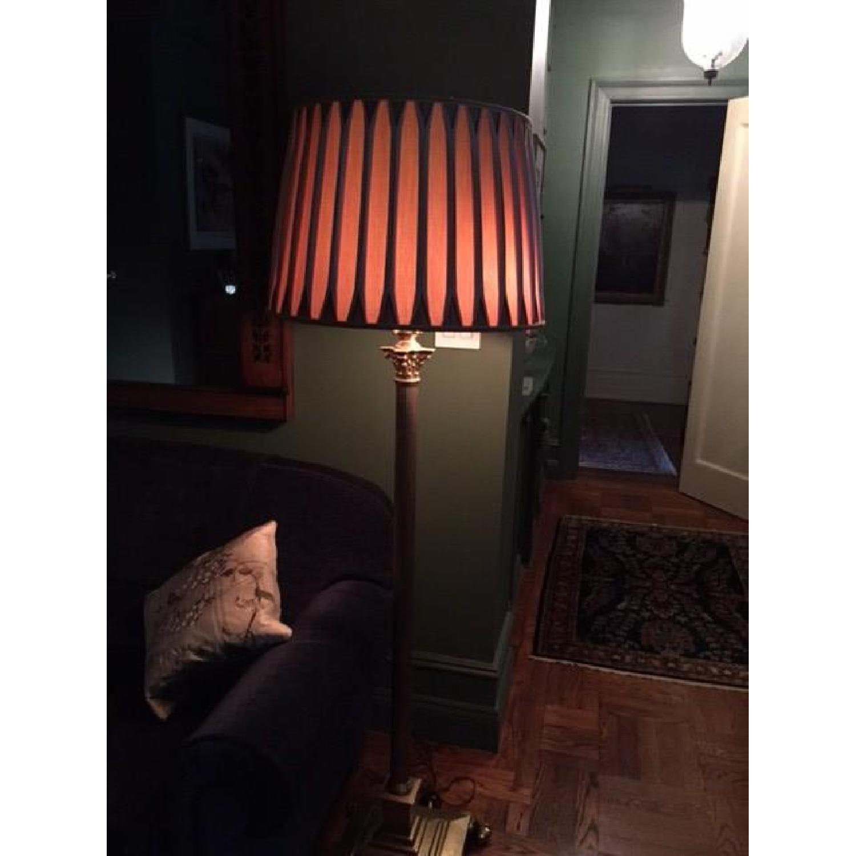 Handmade Silk Lamp Shade w/ Reverse Pleeds - image-3