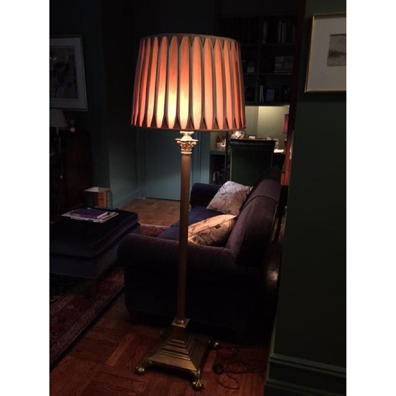 Handmade Silk Lamp Shade w/ Reverse Pleeds - image-4
