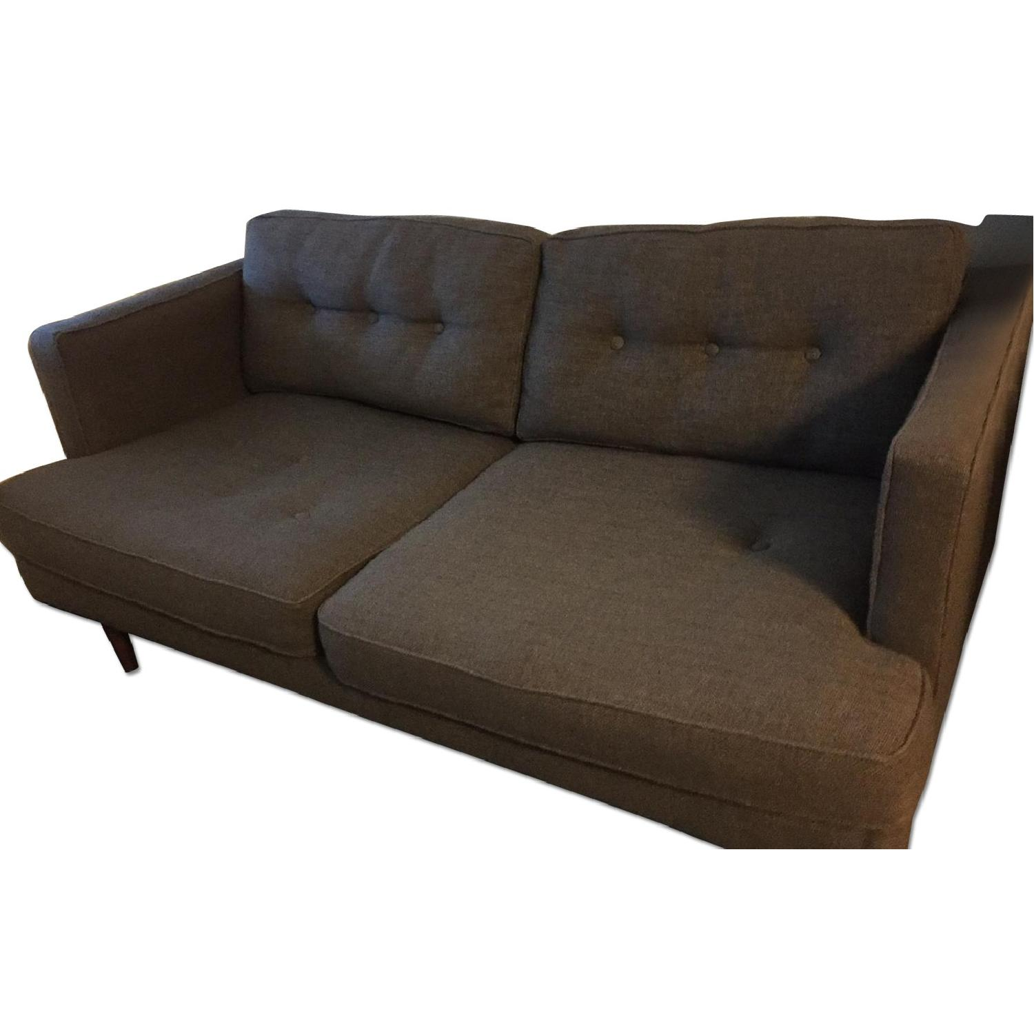West Elm Peggy 2-Seater Poly Pebble Weave Sofa - image-0