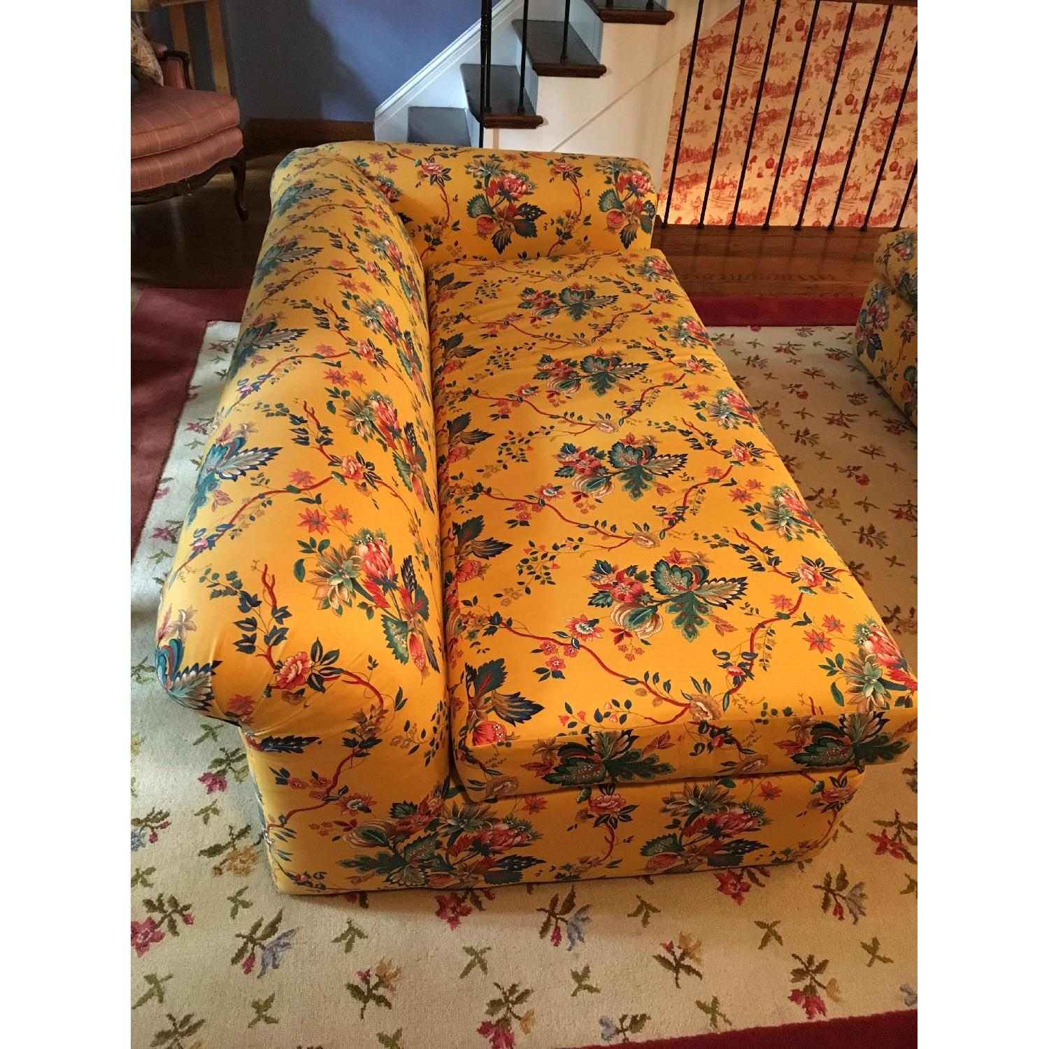 Yellow 2 Piece Floral Sectional Sofa - image-3