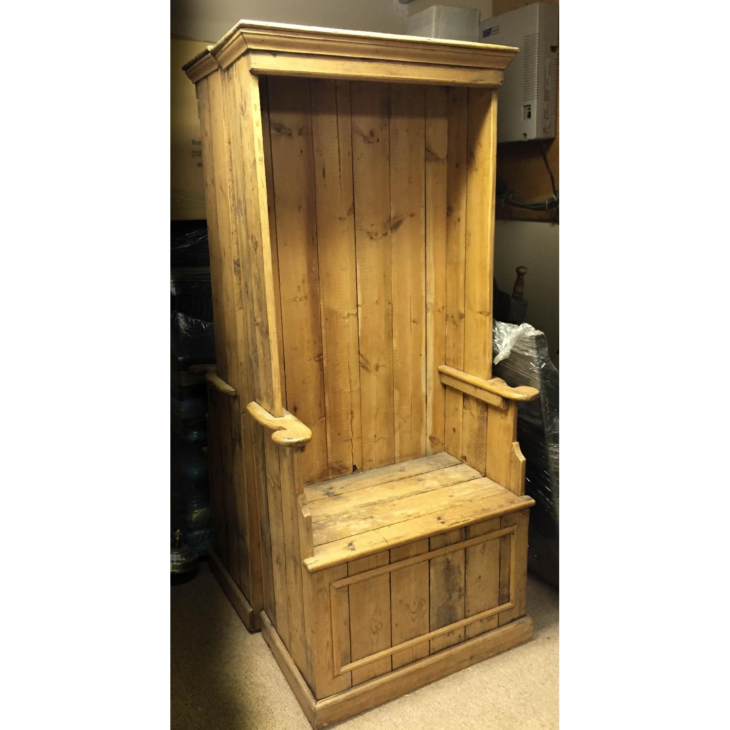 Antique Pine Porters Chairs - image-2