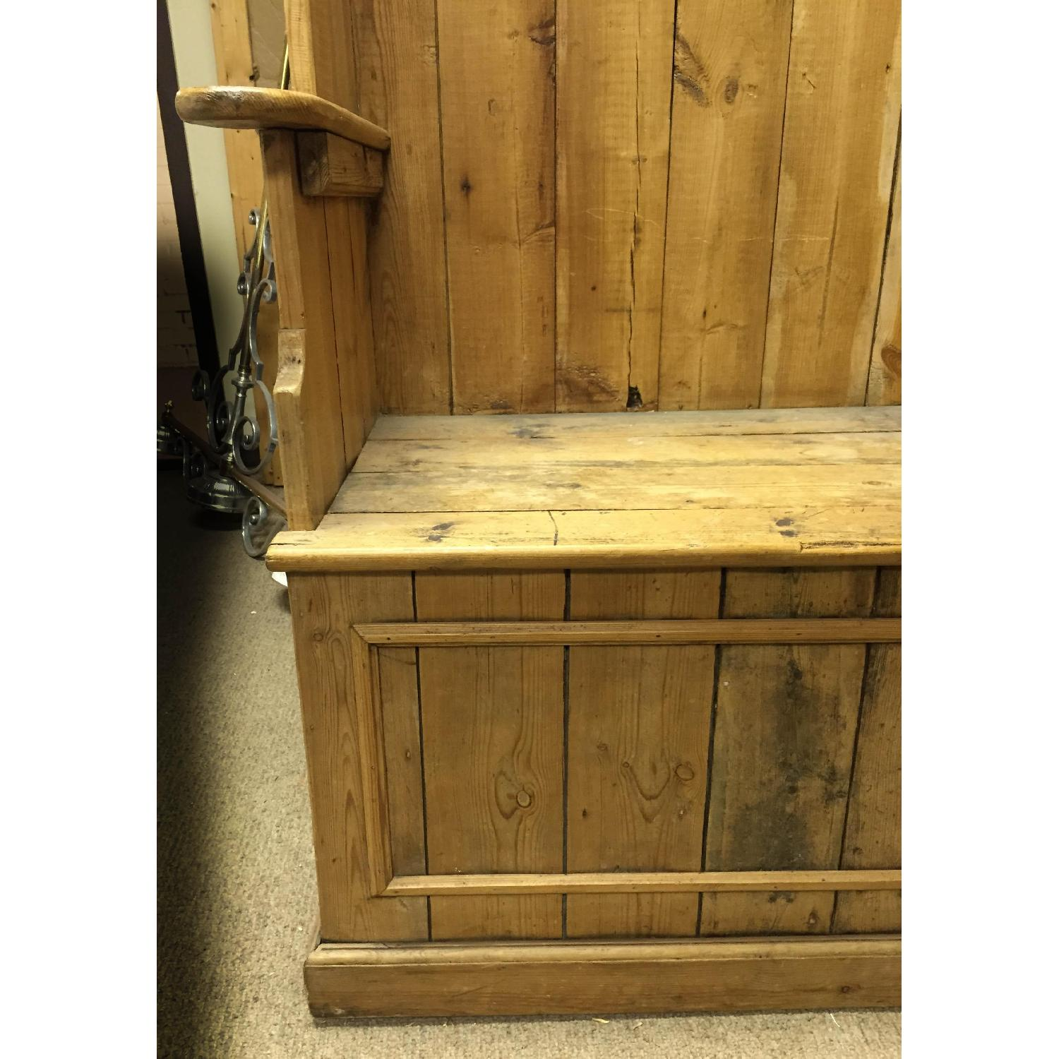 Antique Pine Porters Chairs - image-5