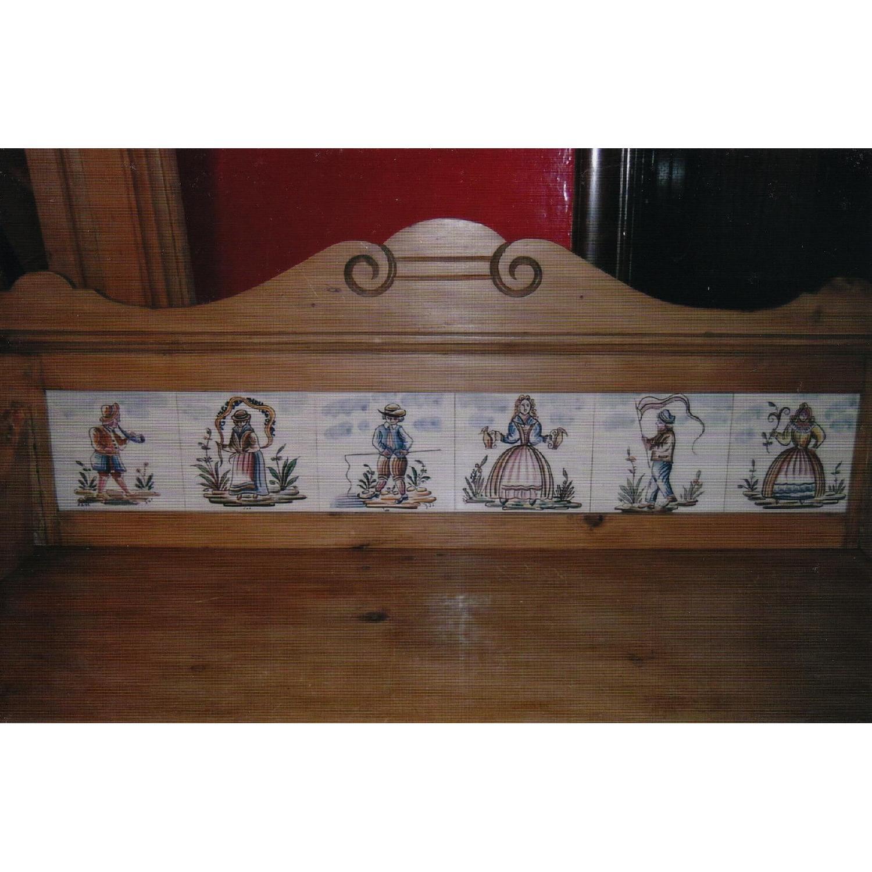 Antique Pine Dresser w/ Tile Back - image-4