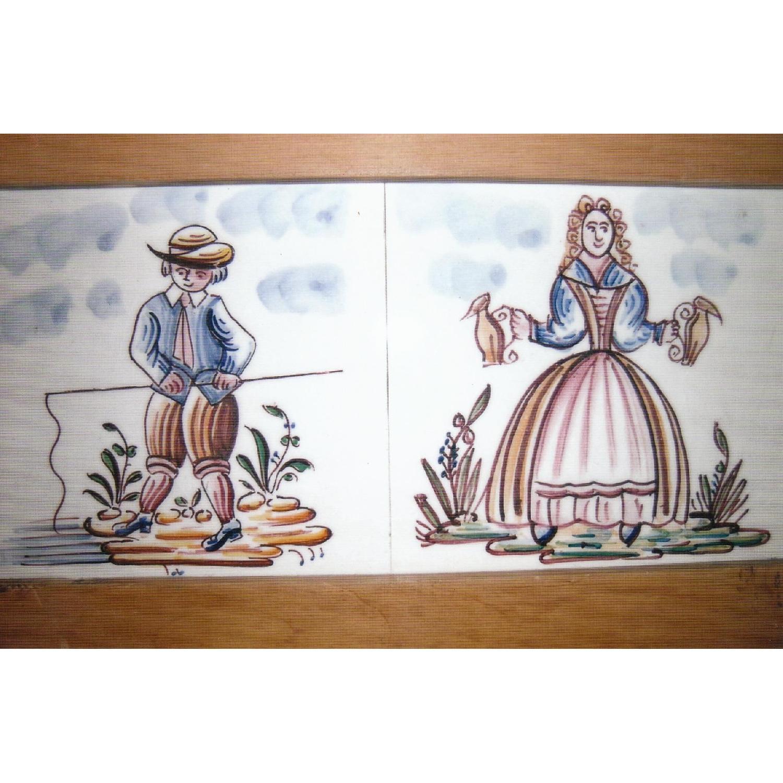 Antique Pine Dresser w/ Tile Back - image-5