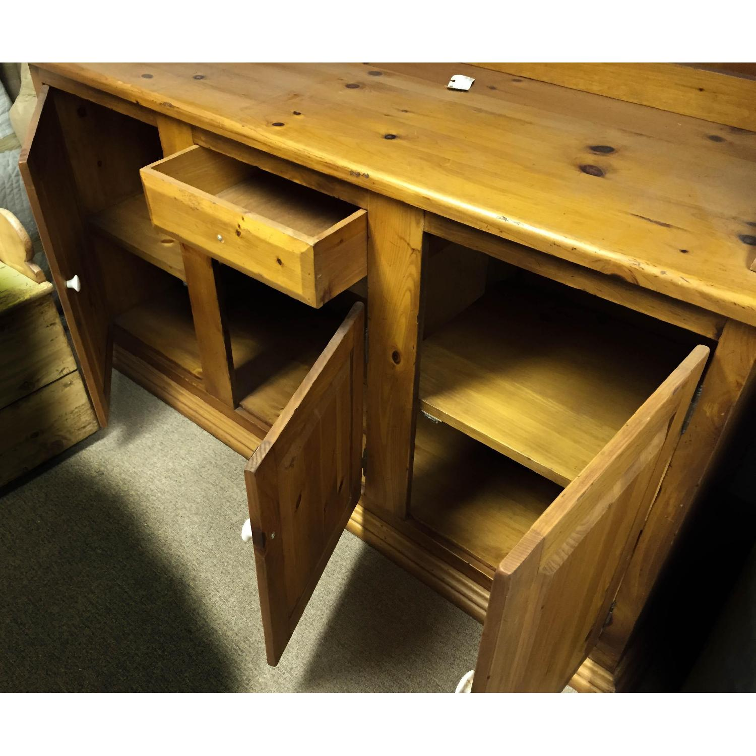 Antique Pine Welsh Kitchen Dresser & Display Hutch - image-1