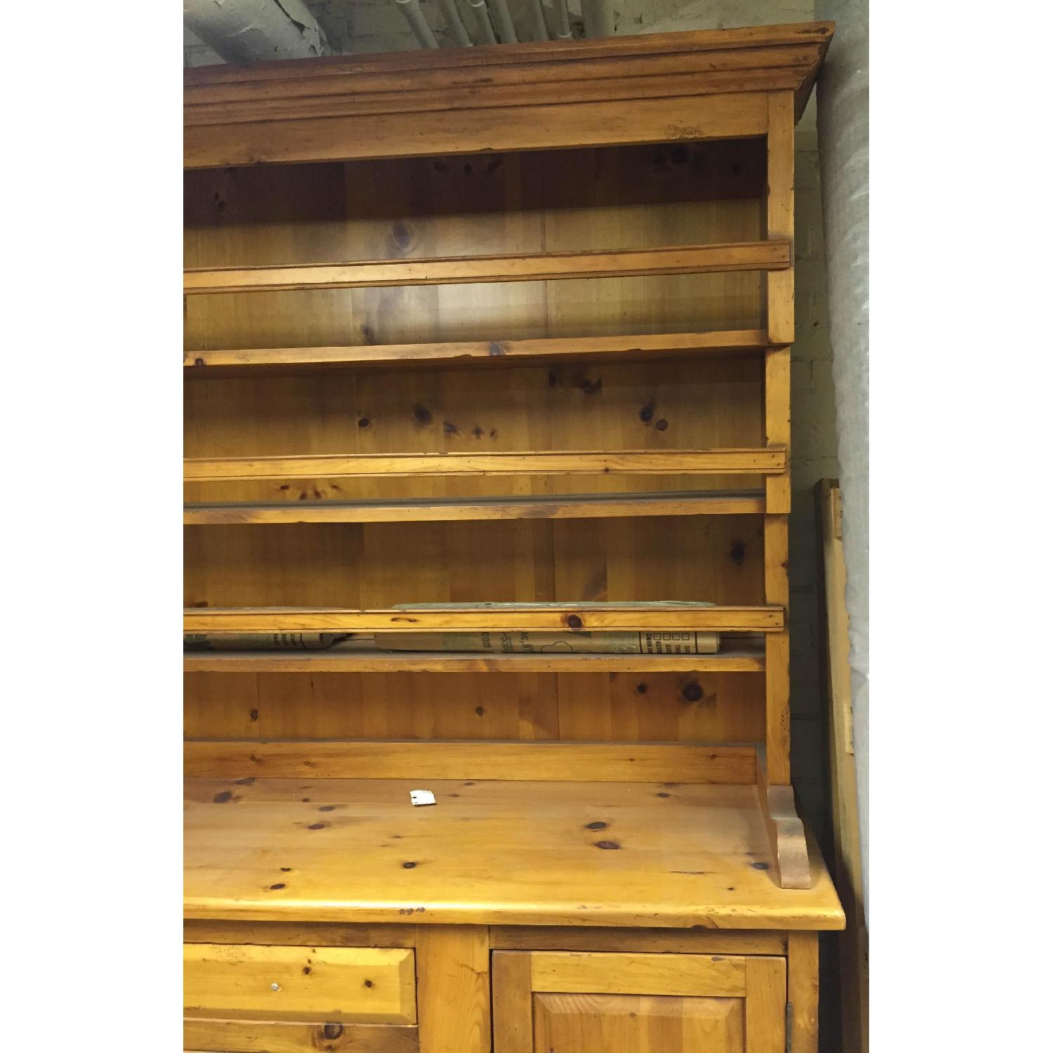 Antique Pine Welsh Kitchen Dresser & Display Hutch - image-2