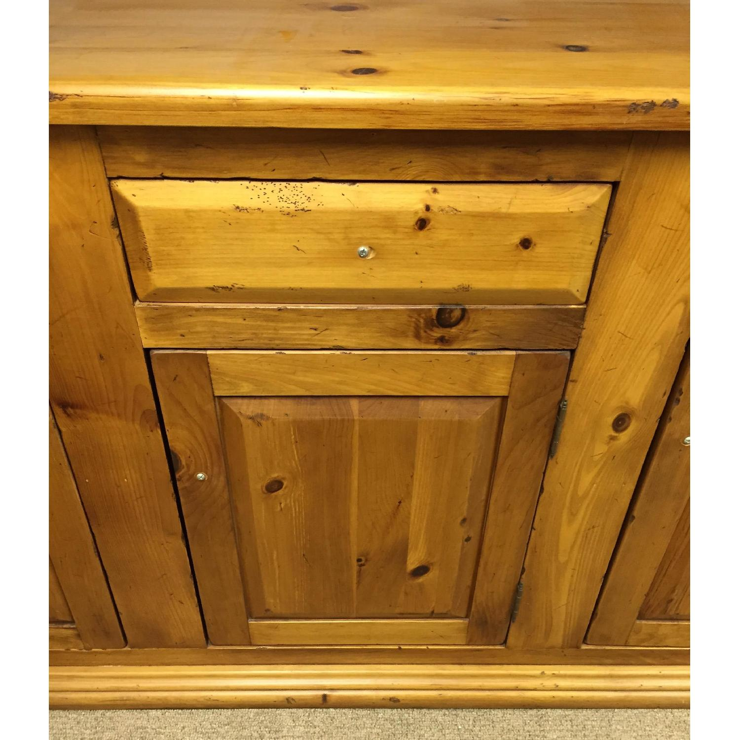 Antique Pine Welsh Kitchen Dresser & Display Hutch - image-3