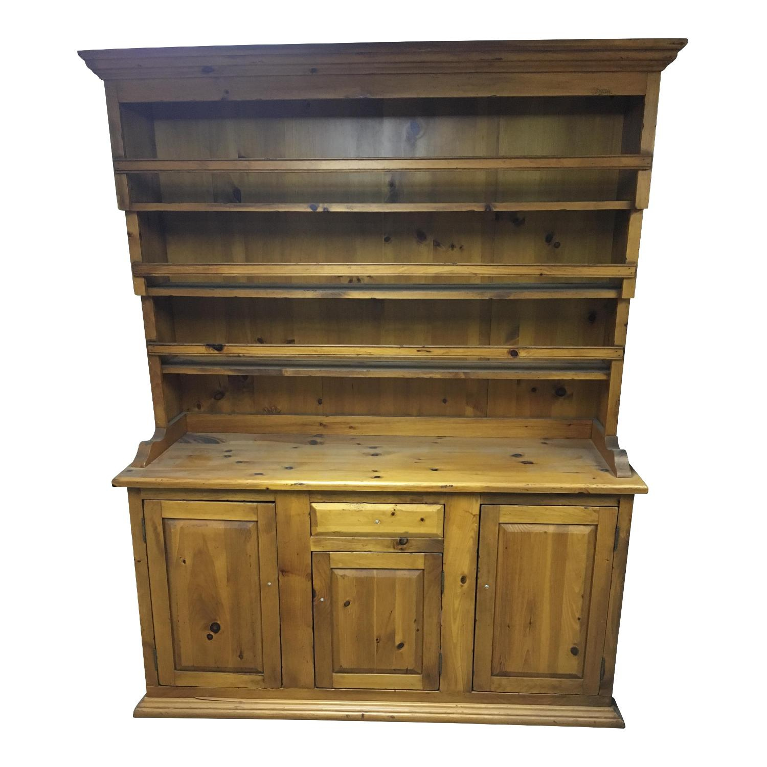 Antique Pine Welsh Kitchen Dresser & Display Hutch - image-0