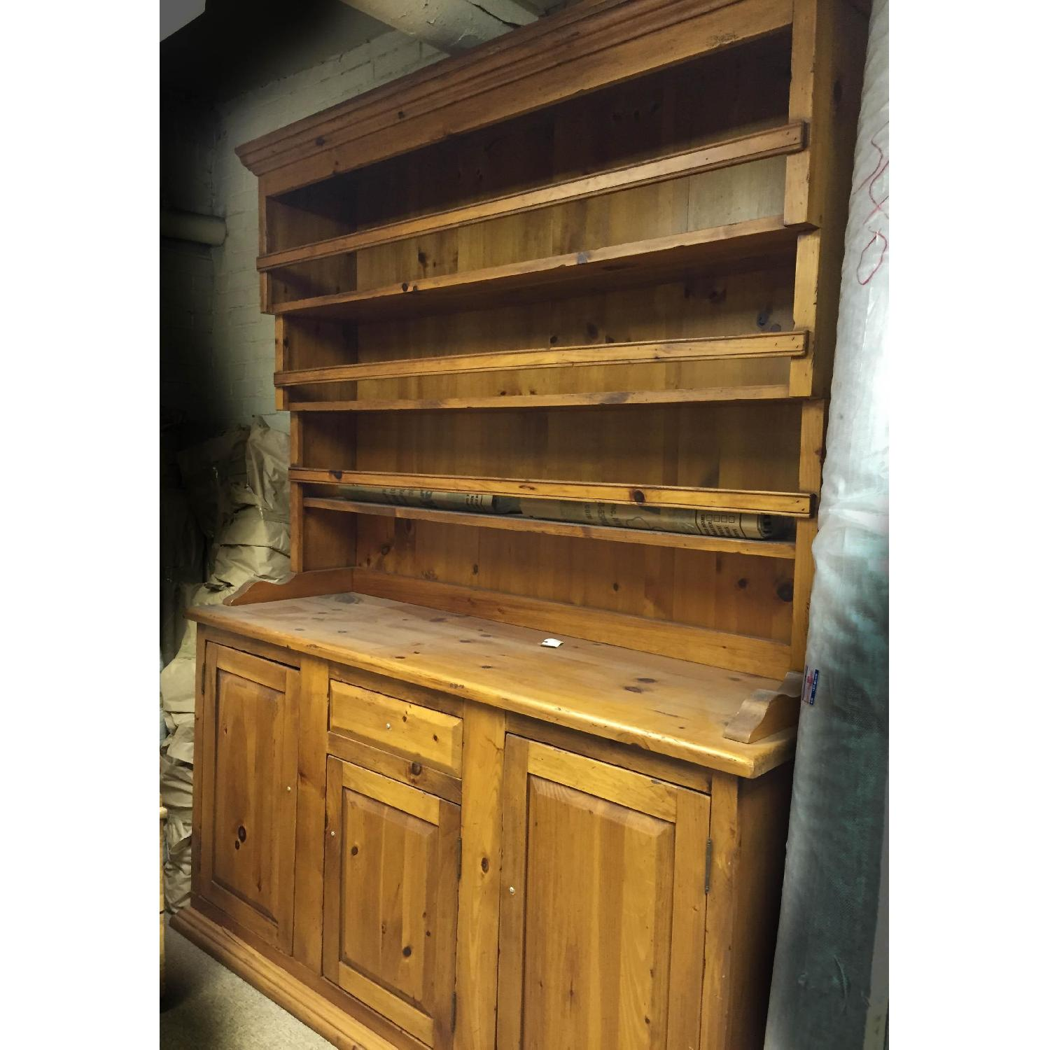 Antique Pine Welsh Kitchen Dresser & Display Hutch - image-4