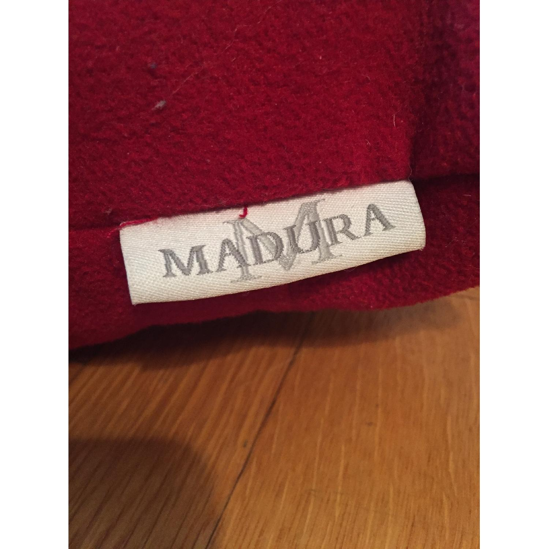 Madura Red Throw Pillows - image-3