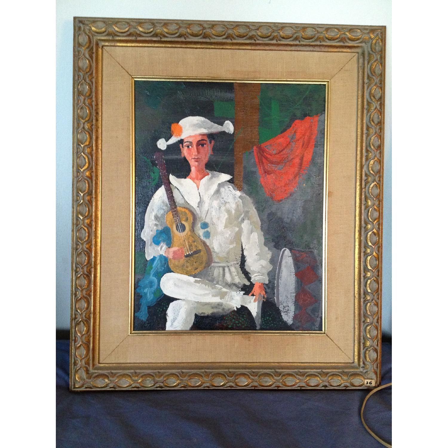 Byron Browne 1960 Oil Painting - The Clown - image-1