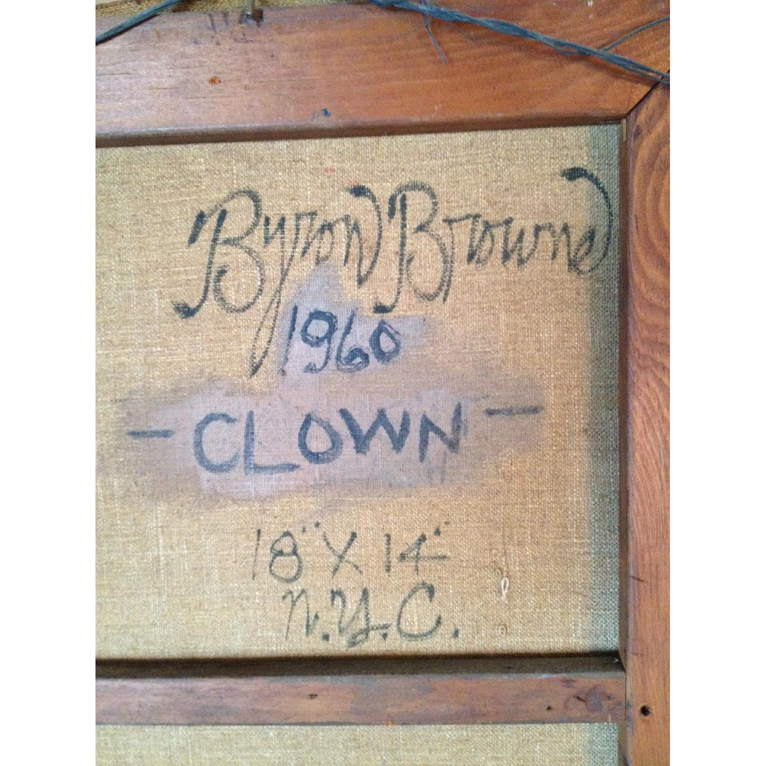 Byron Browne 1960 Oil Painting - The Clown - image-2