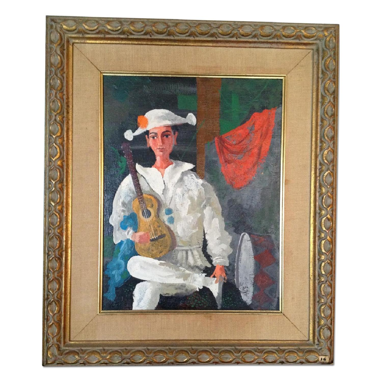 Byron Browne 1960 Oil Painting - The Clown - image-0