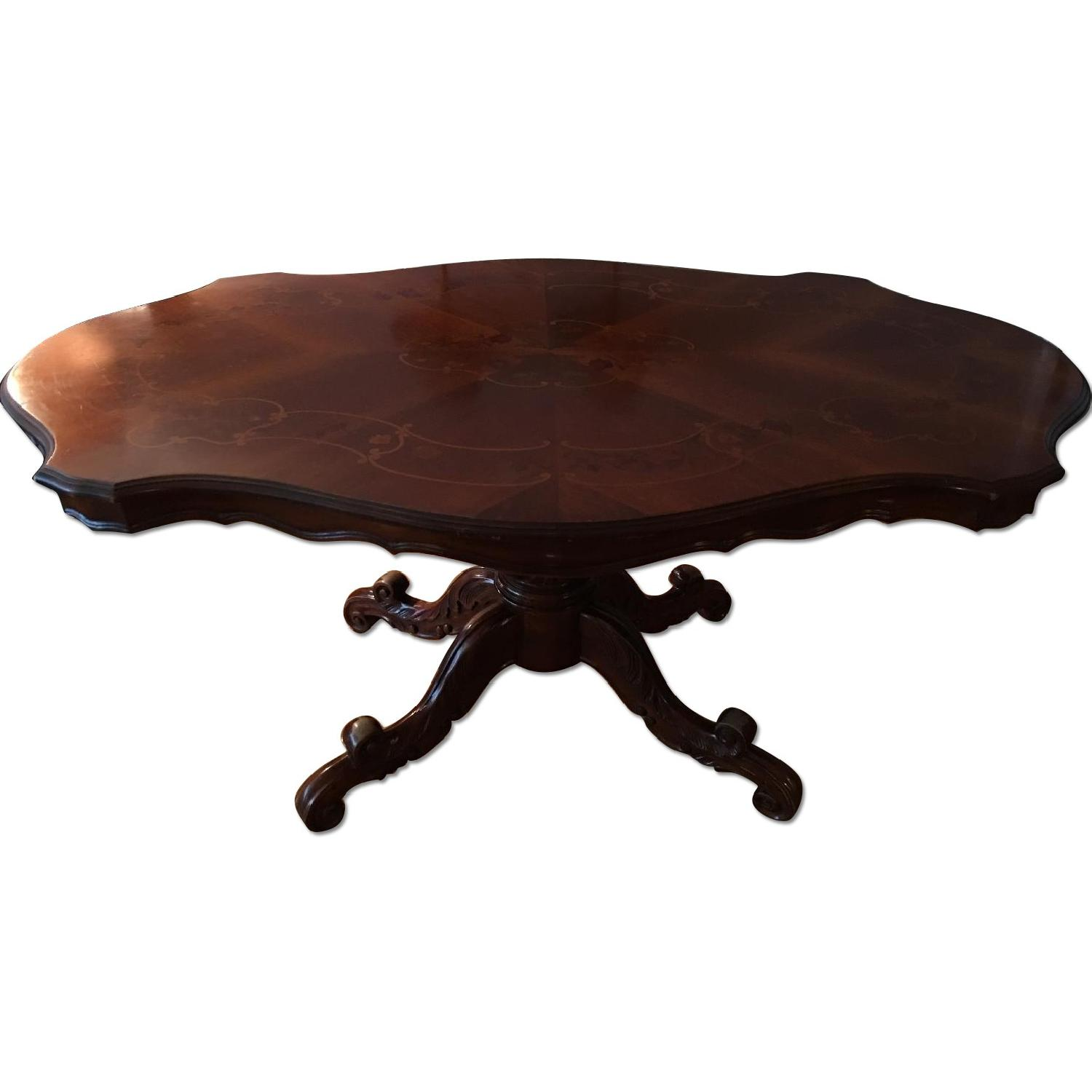 French Inlay Pedestal Table - image-0
