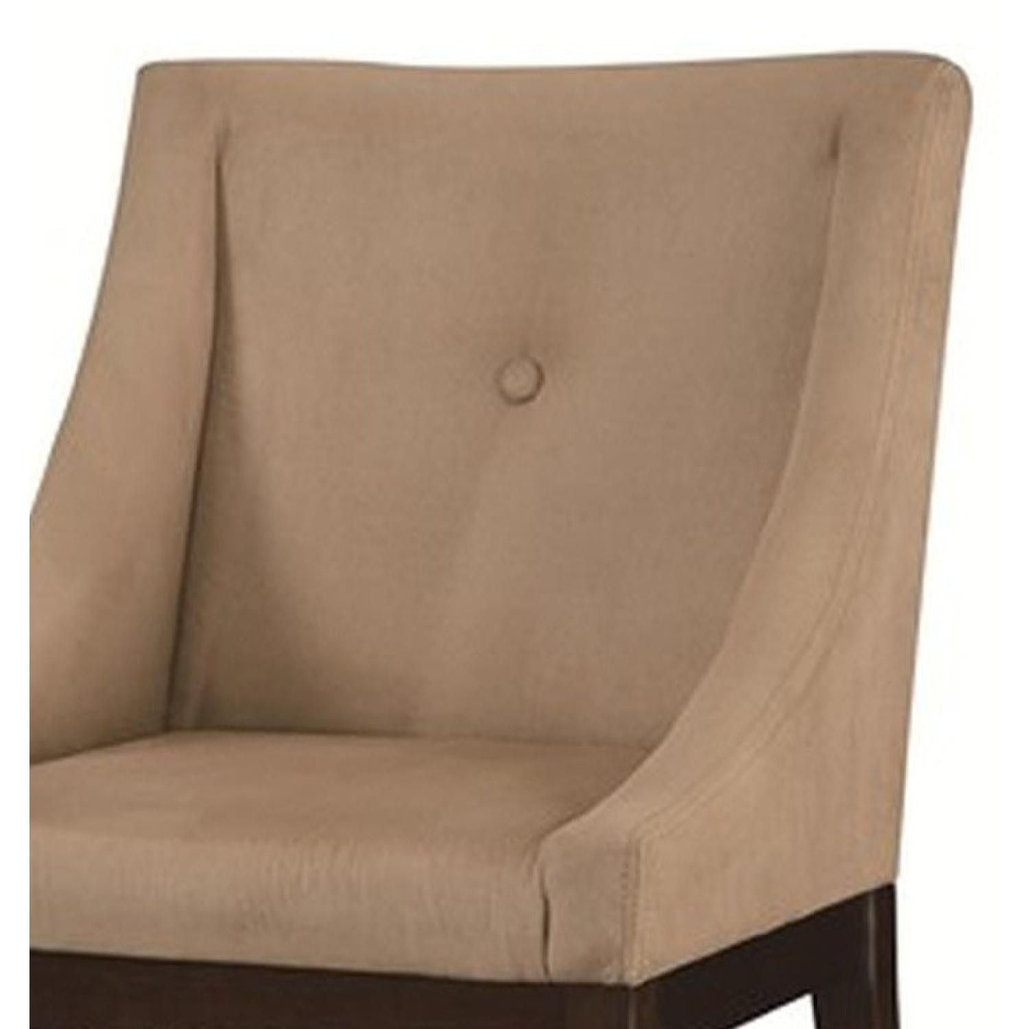 Soft Microvelvet Fabric Accent Chair in Taupe Color - image-2