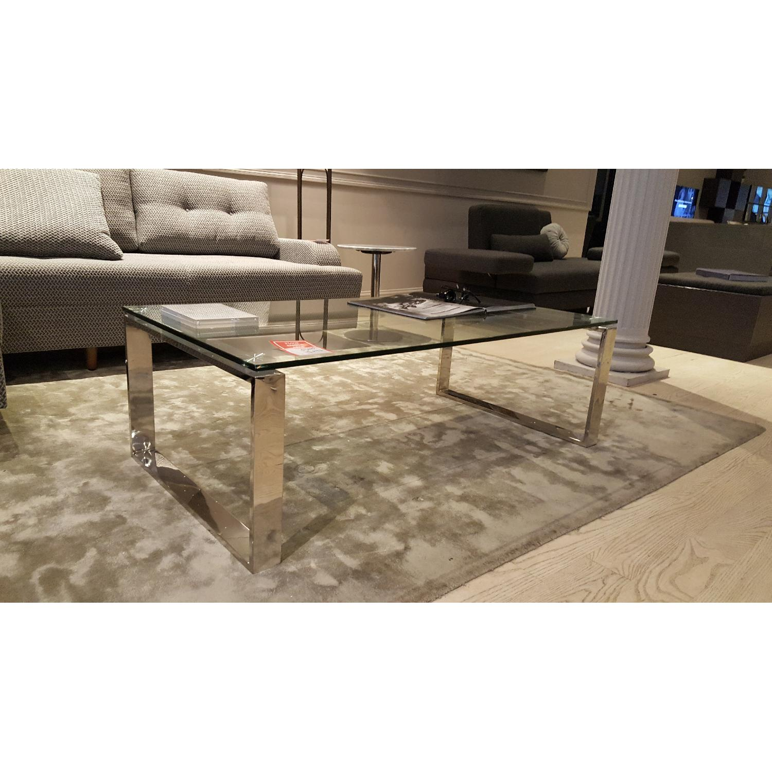 Lazzoni Glass Coffee Table - image-1