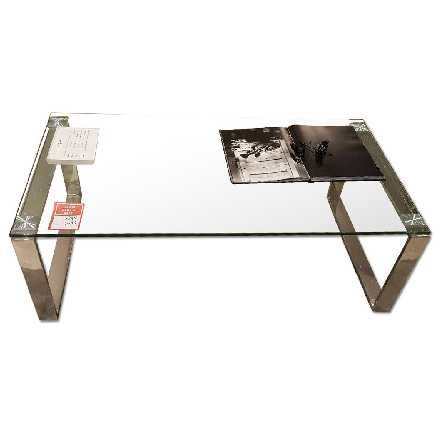 Lazzoni Glass Coffee Table - image-0