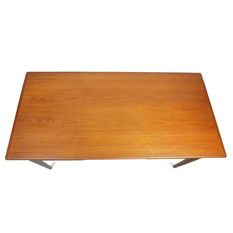 Gitte Four Drawer Teak Desk w/ Open Back - image-3