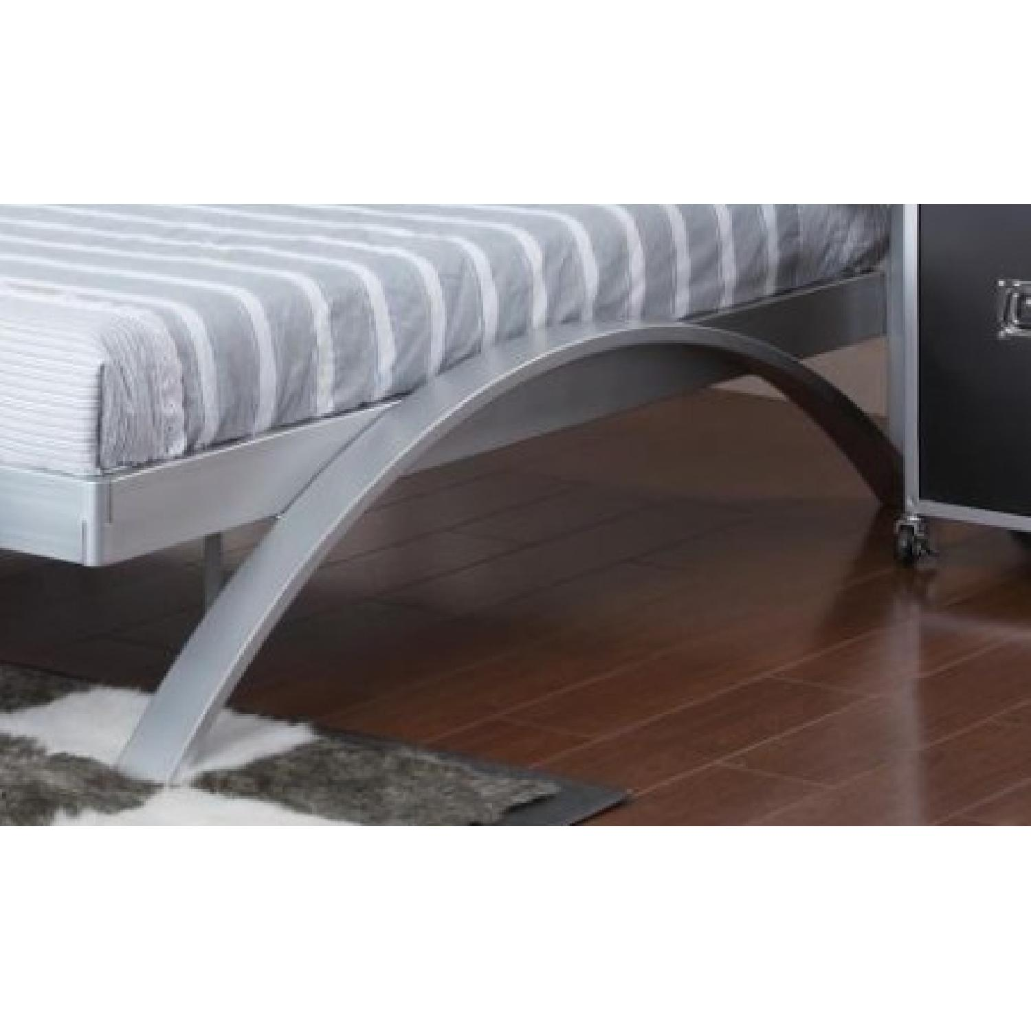 Full Size Metal Platform Bed in Contemporary Industrial Desi - image-2