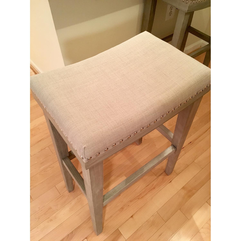 Gray Upholstered Barstools - image-2