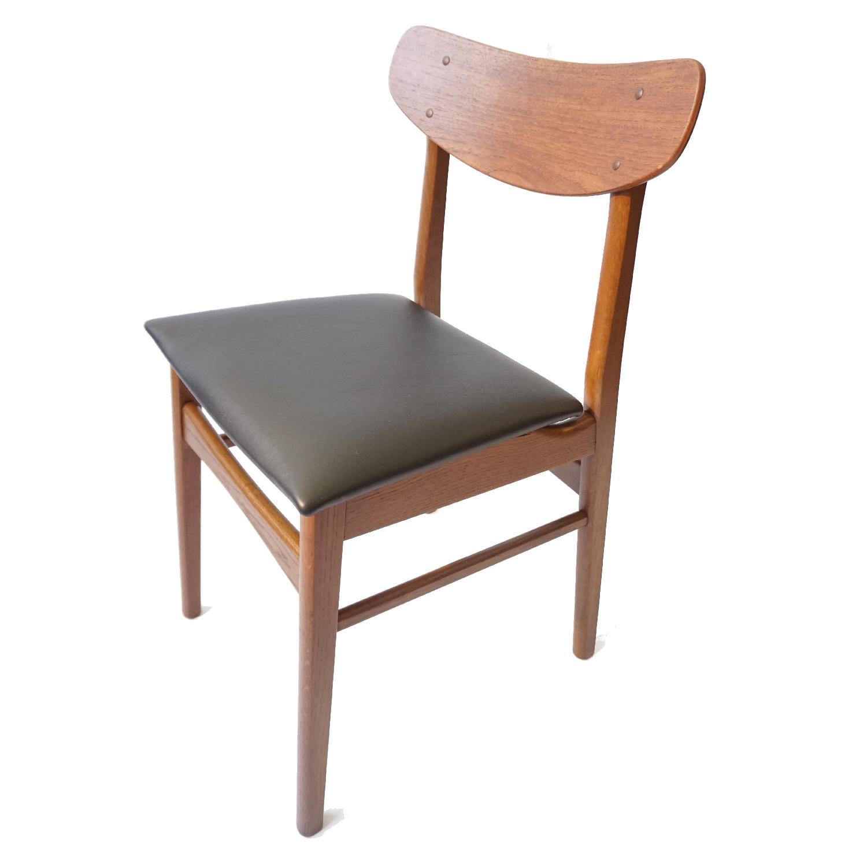Danish Teak U Back Chair - image-1